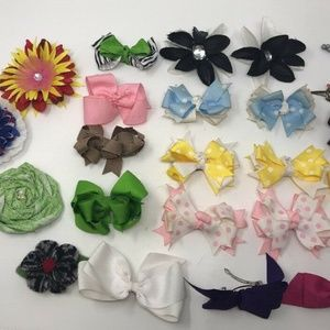 Other - HUGE LOT 24 Custom Hair Bows and Accessories